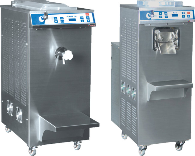 Ice cream batch freezers and pasteurizers